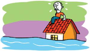 hombre-sobre-su-tejado-en-una-inundacic3b3n
