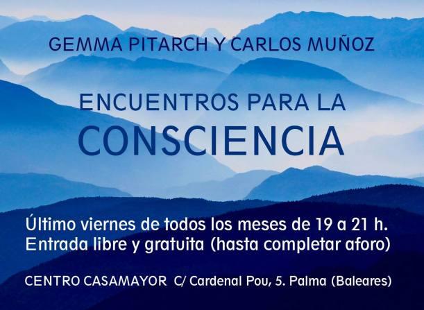 cartel encuentros para la consciencia